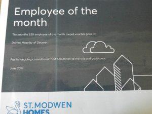 Darren Moseley Employee of the Month