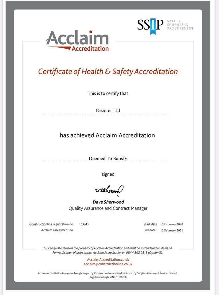acclaim accreditation 2021